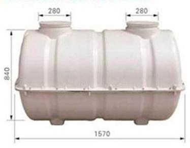 0.8立方模压玻璃钢化粪池规格参数